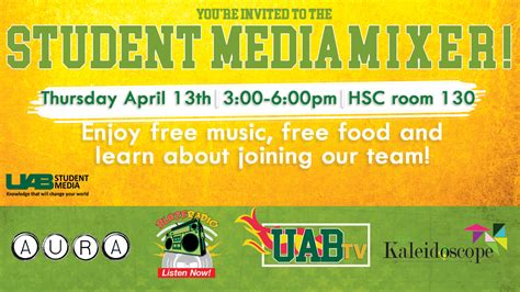 Uab  Student Media  Student Media Mixer This Thursday