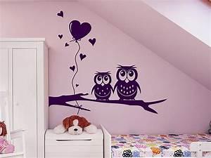 Wandtattoo Für Babyzimmer : wandtattoo s es eulen p rchen f rs babyzimmer ~ Markanthonyermac.com Haus und Dekorationen