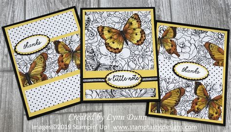 Botanical Butterfly DSP Card Ideas Butterfly cards Bee