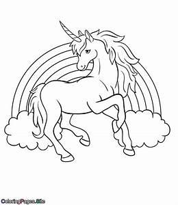 unicorn rainbow coloring page - rainbow unicorn coloring page