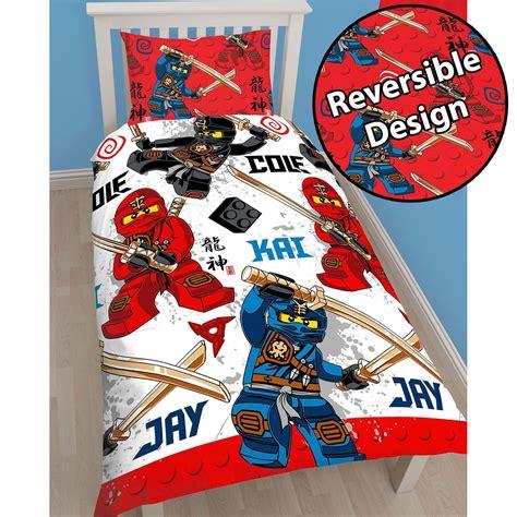 Lego Ninjago Warrior Single Duvet Cover Set Rotary Design