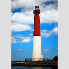The Barnegat Lighthouse, In Barnegat Bay, An Icon Of The Jersey Shore, Is Recognizable From Its