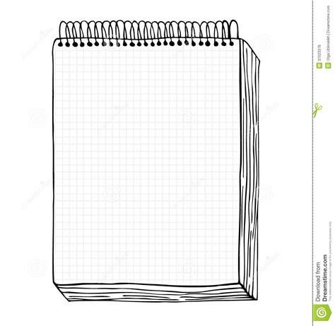 bureau de contr e croquis de carnet illustration de vecteur avec la feuille