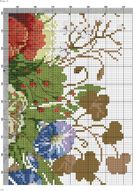 wildflowers  cross stitch pattern diy  ideas