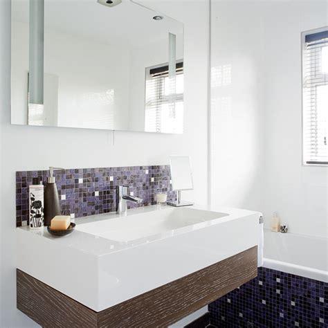 Modern Bathroom With Mosaic Tiles  Bathroom Designs