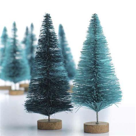 small green bottle brush trees christmas trees