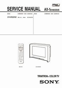 Sony Kv-hr32k90 Service Manual