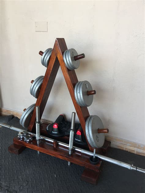 diy home gym wood weights rack mens super hero shirts