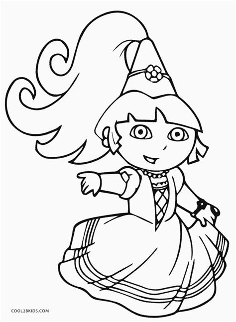 printable dora coloring pages  kids