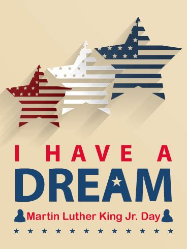 stars martin luther king day card birthday greeting cards