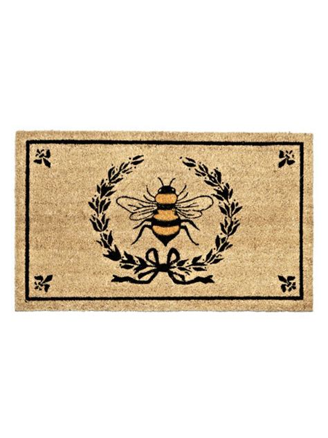 Fiber Doormat by 30 Quot X 18 Quot Coir Fiber Honey Bee Inside Crest Anti Slip