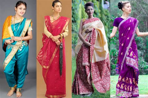 Different Drapes Of Saree - different types of saree draping styles in india