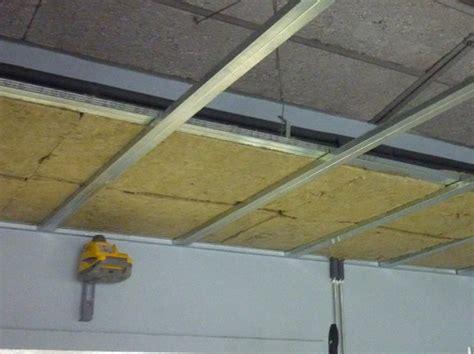 isoler un plafond suspendu plafond
