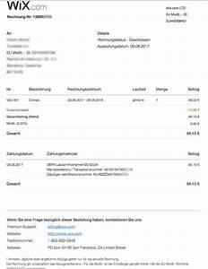 Ordentliche Rechnung : wix test erfahrungen vor und nachteile des homepage ~ Themetempest.com Abrechnung