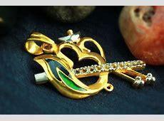 Gold Plated Krishna Locket Pendant I Rudraksha Ratna
