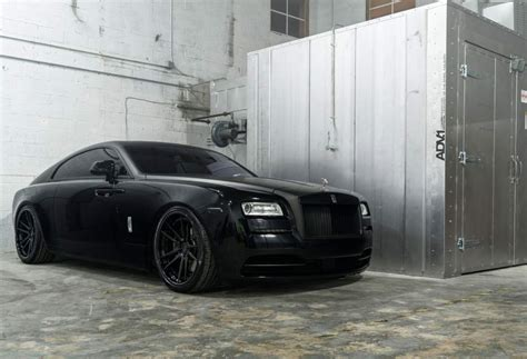 Adv1 Wheels Matte Black Murdered Out Rolls Royce Wraith