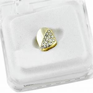 Single Cap Gold Plated Teeth Grillz - Single Cap Grillz