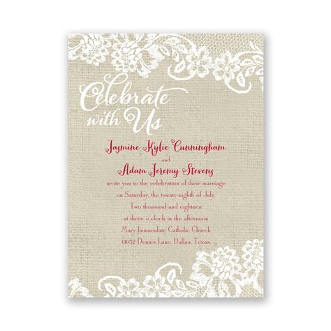 Untry Details Pe E Invitation Anns Bridal Bargains