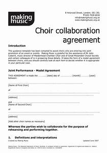 choir collaboration agreement template making music With collaboration contract template