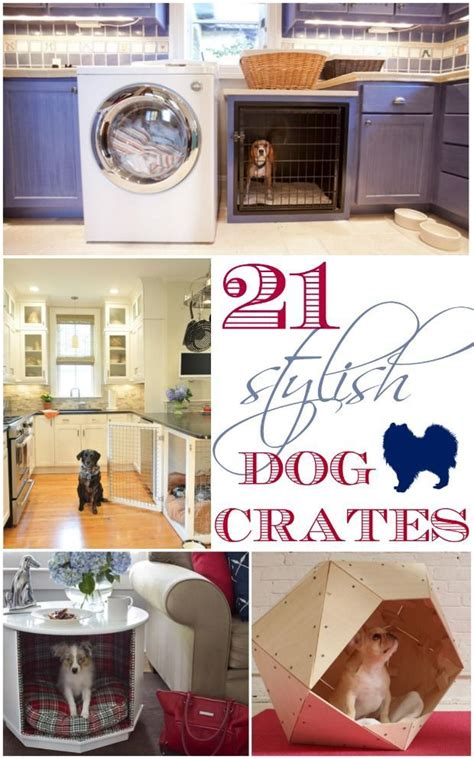 stylish dog crates decorating ideas diy ideas