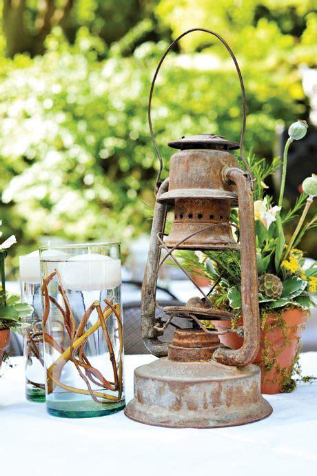 lantern centerpieces Rustic chic wedding Wedding wishes