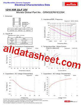 Grm32er61e226k Datasheet(pdf)  Murata Manufacturing Co, Ltd