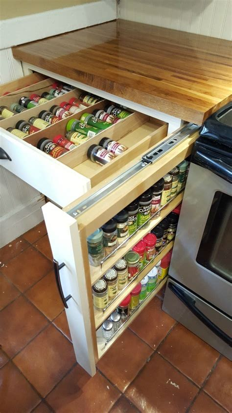 Drawer Spice Rack by Diy Spice Drawer