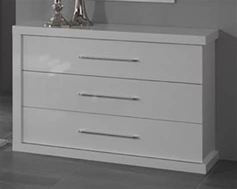 meuble de cuisine laqué commode 3 tiroirs ancona laque blanc cac
