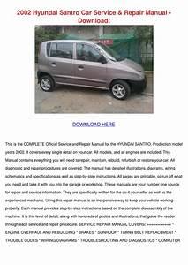2002 Hyundai Santro Car Service Repair Manual By