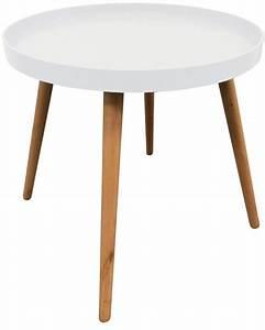 Table D Appoint Jardin : table d 39 appoint ronde avec plateau blanc ~ Teatrodelosmanantiales.com Idées de Décoration