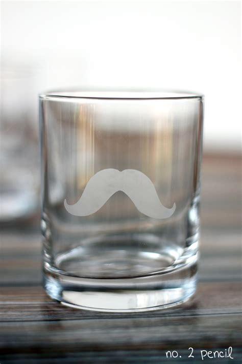 diy mustache glass  martha stewart glass etching cream