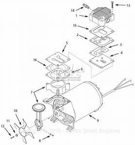 Campbell Hausfeld Wl370001 Parts Diagram For Pump Parts