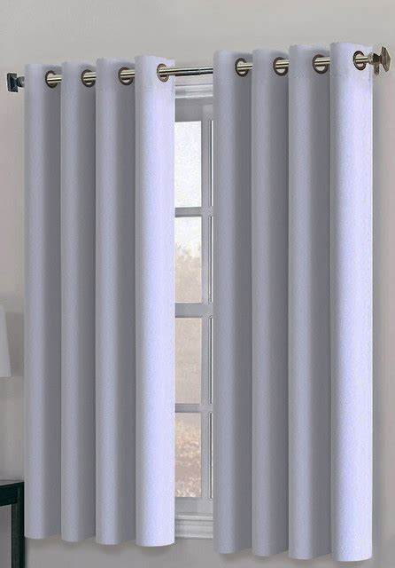 white and gray curtains 63 ponydance 2 panel blackout curtains set of 2 white gray