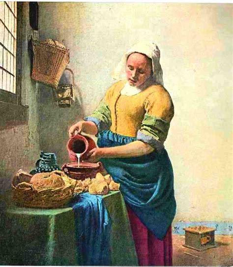 tablier blanc de cuisine la laitière de jan vermeer l