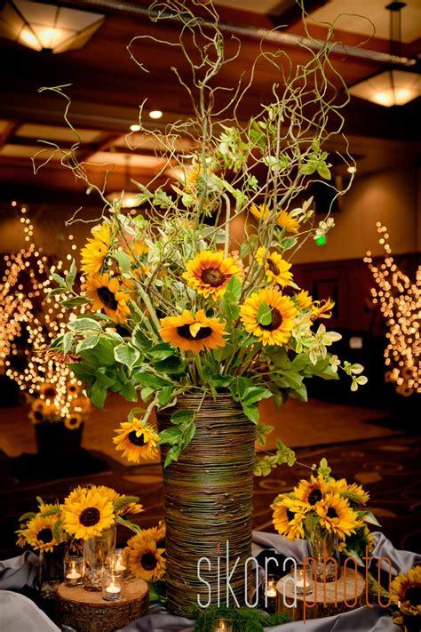sunflower arrangement designs sunflower reception wedding flowers wedding decor wedding flower centerpiece wedding flower