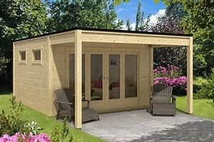 Gartenhaus Mit Flachdach : das gartenhaus mit vordach ~ Frokenaadalensverden.com Haus und Dekorationen
