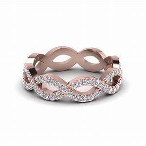 infinity diamond eternity wedding anniversary band for With rose gold wedding rings for women