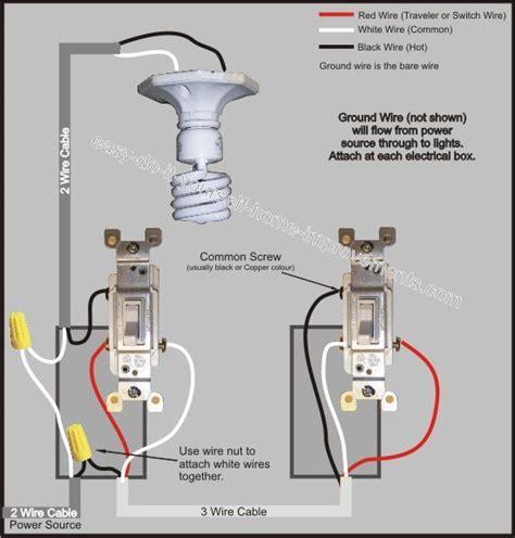 Way Switch Wiring Diagram Electrical Diy Light