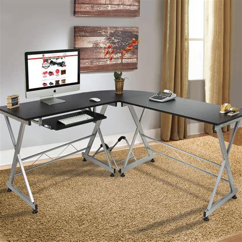 computer desk pc table wood l shape corner computer desk pc laptop table