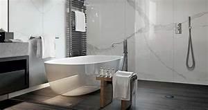 Salle De Bain Marbre Blanc : carrelage sol imitation marbre ~ Nature-et-papiers.com Idées de Décoration