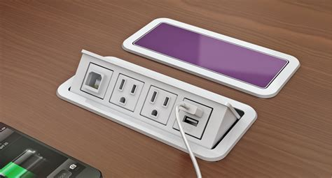 desk outlets power and data customizable power and data grommet desk outlets nacre