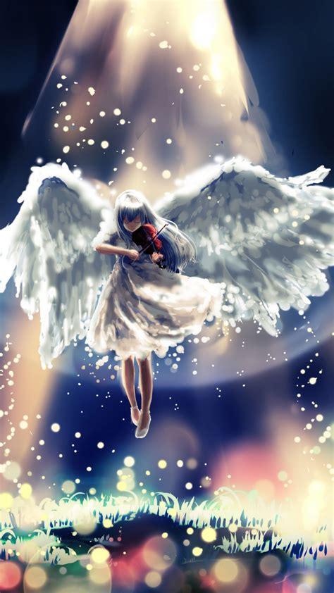 wallpaper anime angel beats art