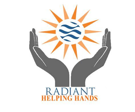 Radiant-helping-hands-logo-design