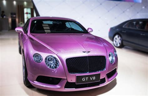 A Purple Bentley Car Editorial Photography. Image Of