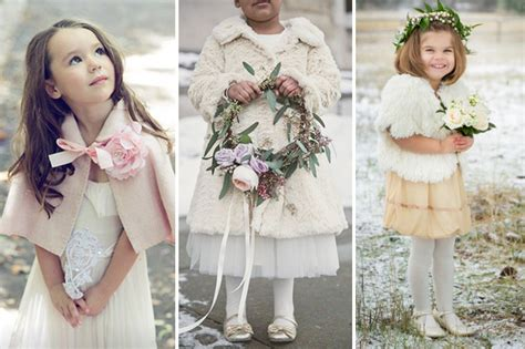 cosy  cute winter flower girl outfits onefabdaycom uk