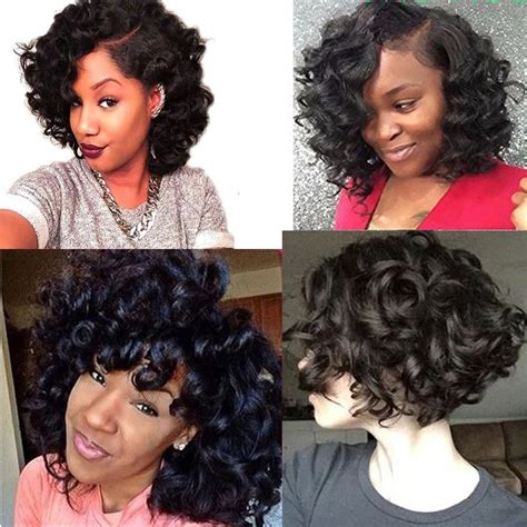 It doesn't matter whether you have short or long locks, adding some waves and ringlets to your tresses. Molefi Bouncy Curl Weave Funmi Hair 4 Bundles With Closure ...