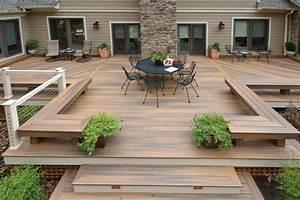 terrasse bois 15 belles photos de terrasses en bois With faire une terrasse en bois composite