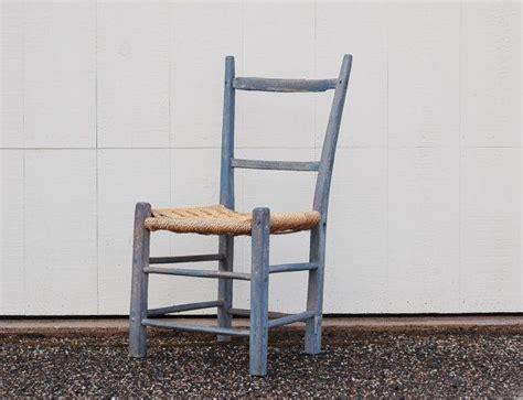 Antique Primitive Ladderback Chair Circa Early