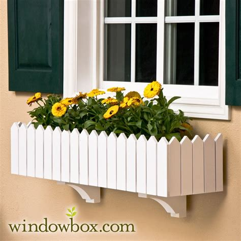 picket fence window box  liners cleat system