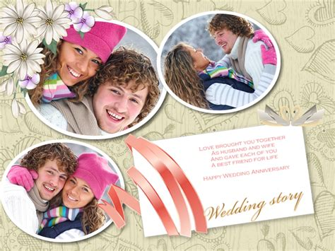anniversary collage card add  templates